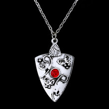 dongsheng The Vampire Diary Pendant necklace the Originals Family Bonnie Bennett Almandine Garnet Silver Talisman Necklace(China)