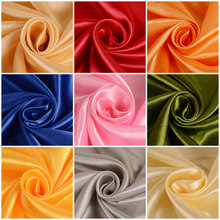 Satin fabric silk cloth 150*100cm Handmade DIY for box lining home dress curtain wedding party decoration sewing background(China)