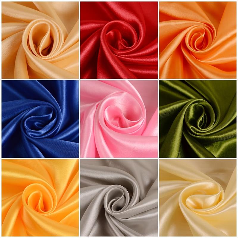 Satin tissu soie tissu 150*100 cm fait à la main bricolage pour boîte doublure maison robe rideau mariage partie décoration couture fond