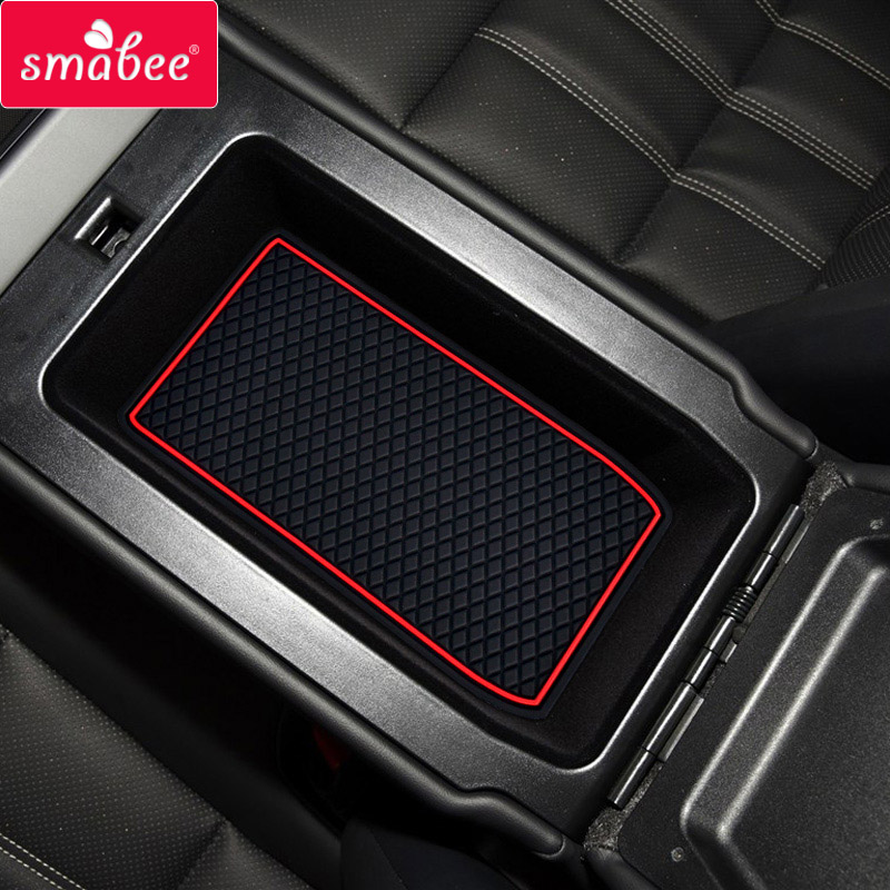 Smabee Car Door Groove Mat for Lexus ES 2014 2015 es200 Non slip mats Interior Accessories Rubber Coaster Car Holder Non Slip mats 13PCS