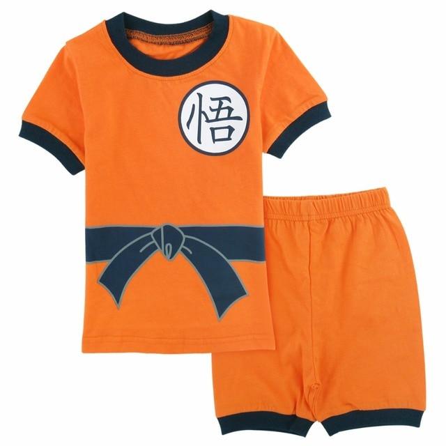 26f793eb60c Boys Goku Cosplay Clothing Set Pyjamas Kids Cartoon Pajamas Child Summer  Loungewear Sleepwear Children Pijamas Infantil