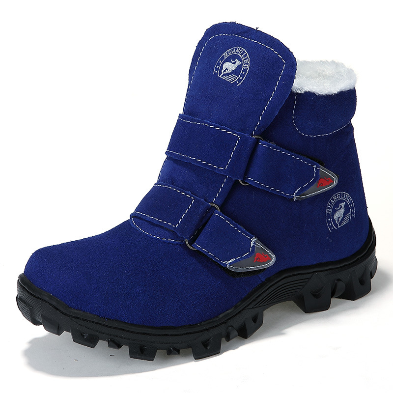 Children Snow Boots Winter Boys Girls Boots Outdoor Cotton Fabric Shoes Waterproof For -30 Degree Russia Warm 2016 new winter kids snow boots children warm thick waterproof martin boots girls boys fashion soft buckle shoes baby snow boots
