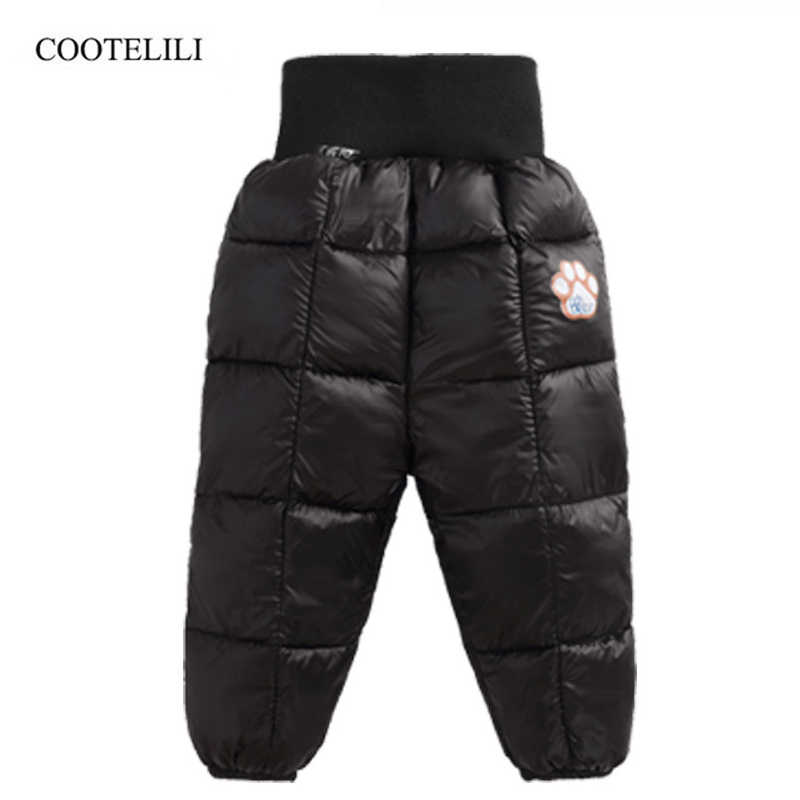 ae8d3d6e2d820 COOTELILI Cotton Winter Pants For Baby Boys Girls High Waist Thicken  Children Clothes Kids Boy Trousers
