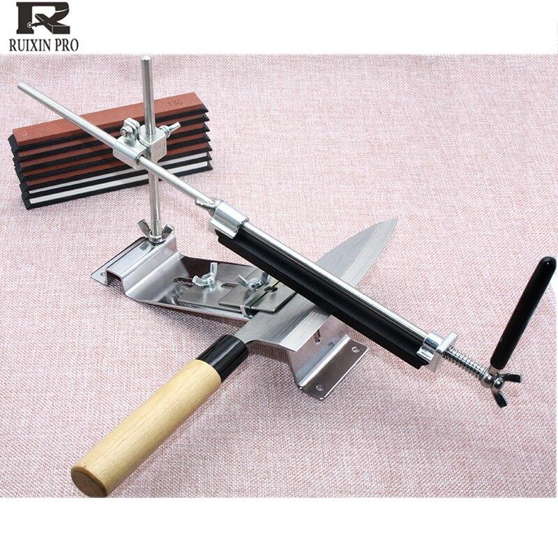 Ruixin pro affûteuse de couteau à angle fixe affûtage 120 3000 grain corindon diamant pierre à aiguiser pierre à aiguiser outils de cuisine