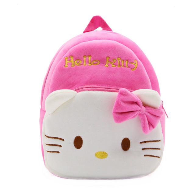 fb0c606ace Mini Hello Kitty Backpack Pink Kawaii Cute Plush Bags Children School Bags  for Baby Girls Kindergarten