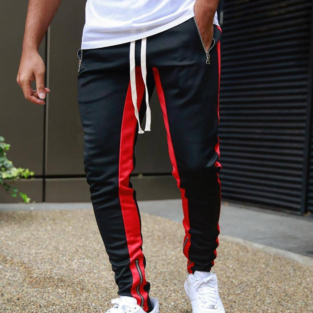 Hot Tight Packet Bodyboulding Gyms Pants 2019 New Brand Clothing Polyester Trousers Fitness Jogger Sweatpants Men High Quality