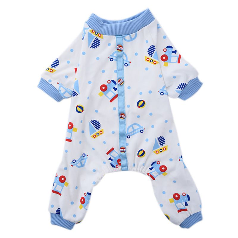 New Lovely Pony Dog Small Car Print Jumpsuit Pajamas Comfy