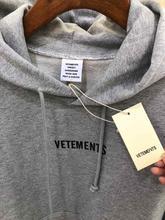VETEMENTS Hoodies Men Women Sticker Stranger Things Streetwear High Quality Sweatshirt Embroidery Hoodie