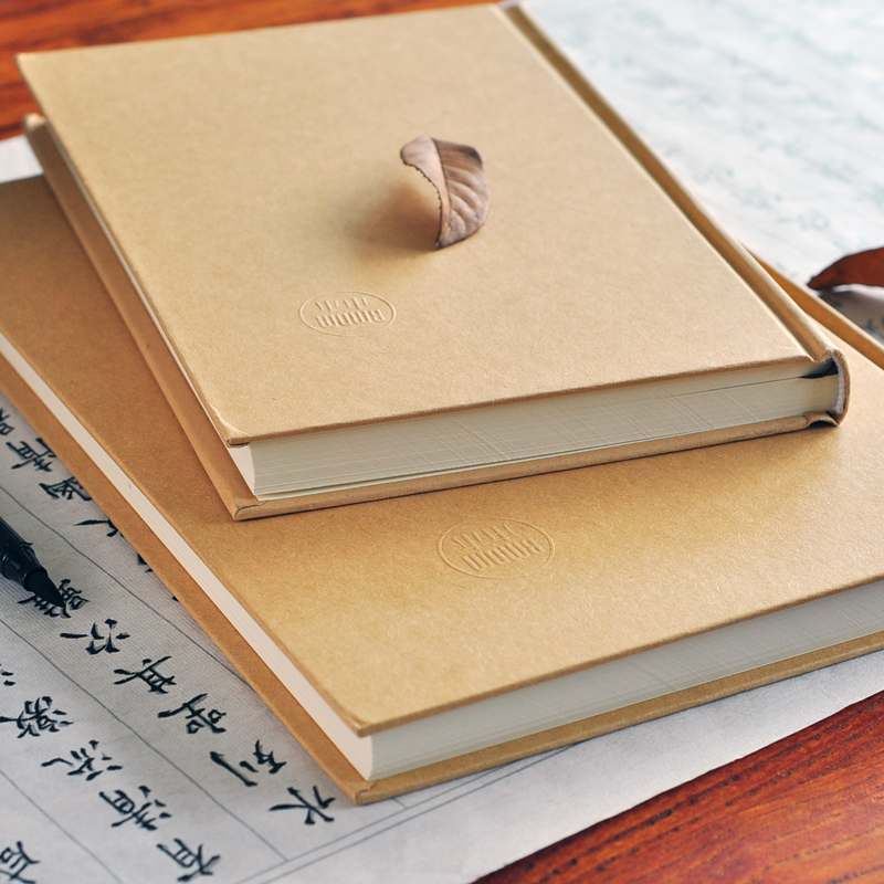 2019 A4 A5 naturligt hårdplattad hardfaced kopia notebook kraftpapper vintage antika anteckningsblock horisontell dagbok dagbok