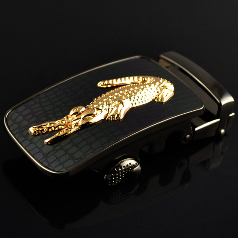 Men's Business Alloy Automatic Buckle Unique Men Plaque Belt Buckles 3.5cm Ratchet Apparel Accessories Designer Belt LY1702-08