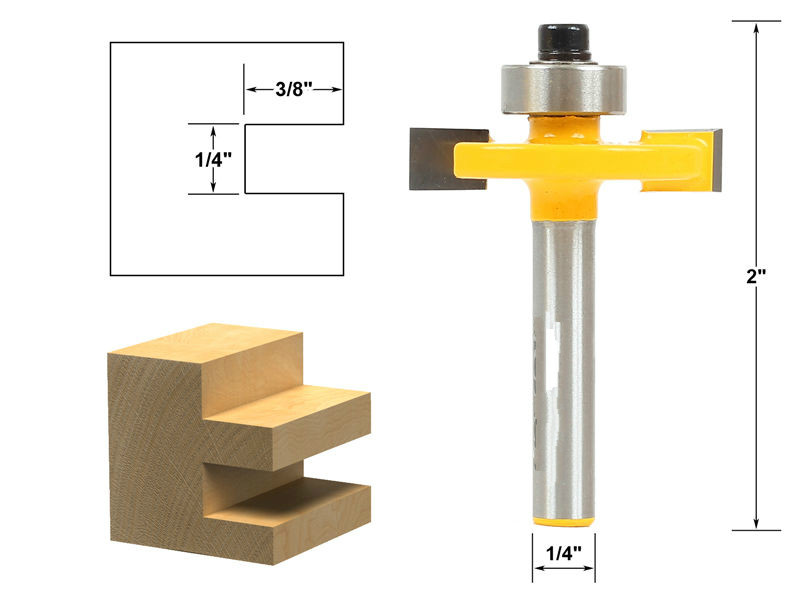 High Efficiency Slot Slotting and Rabbeting Router Bit Set 1/4 Shank Wood Milling Cutter/milling tools/cnc tools 1 2 5 8 round nose bit for wood slotting milling cutters woodworking router bits