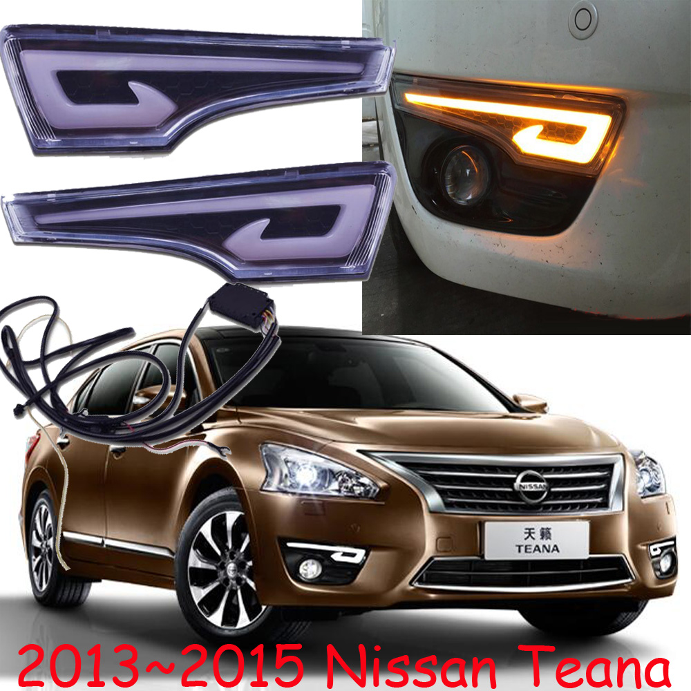 Car-styling,Teana daytime light,2013~2016,chrome,car-detector,LED,Free ship!2pcs,Teana fog light;car-covers, Teana headlight teana fog light 2pcs set led sylphy daytime light free ship livina fog light
