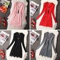 Primavera/Otoño nuevo vestido de La Muchacha 13-20Y Adolescente niñas ropa vestido de las muchachas de Los Niños jacquard de Encaje Una Línea de vestido de la muchacha Ocasional ropa
