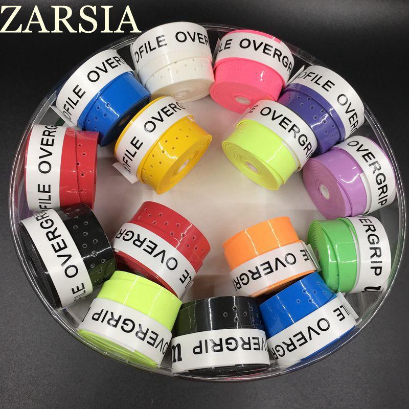 Prix pour 60 pecs/lot ZARSIA collante Pro Surgrip tennis grip perforé Badminton Grip/surgrips tennis/tennis de produit