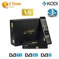 Лучшая цена спутниковый ресивер FTA HD freesat v8 ангел DVB тюнер DVB-S2/T2/C Поддержка cccam клайн europa интернет-тв-ресивер