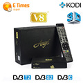 Best price HD satellite receiver FTA freesat v8 angel DVB tuner DVB-S2/T2/C Support cccam europa cline internet tv receiver box