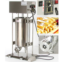 10L Automatic Electric Spainish Churro Machine stainless steel Commercial Churro Maker with 3 shape molds