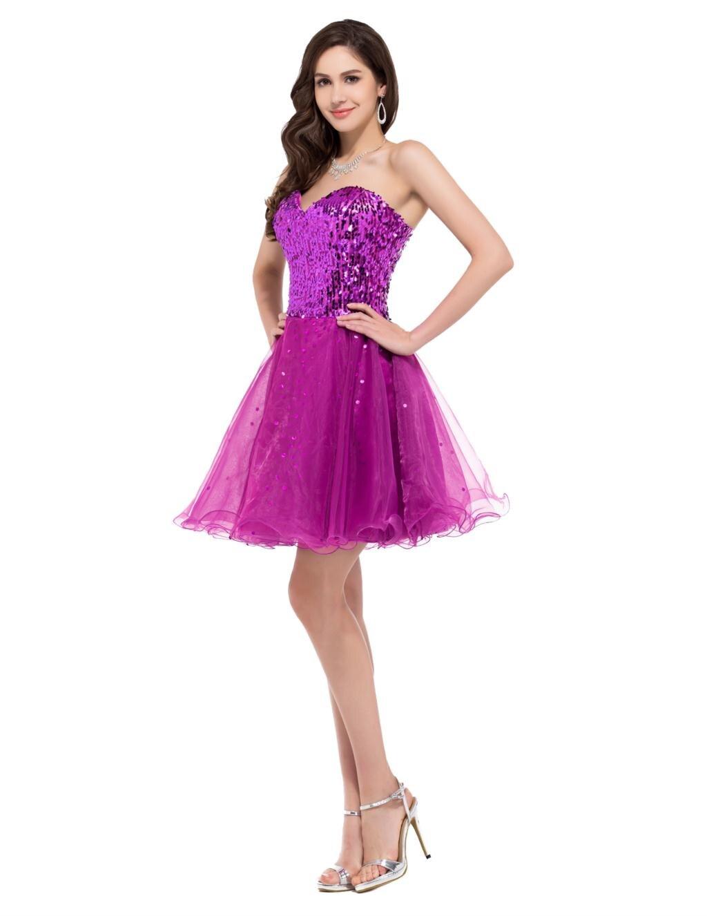 Grace karin negro púrpura de oro de lujo lentejuelas vestidos de ...