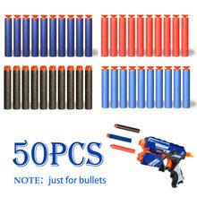 50 шт/компл полые круглые пластиковые пули из мягкой пены военная