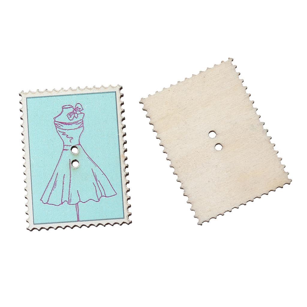 ღ Ƹ̵̡Ӝ̵̨̄Ʒ ღDoreenbeads madera Costura Botón de Scrapbooking sello ...