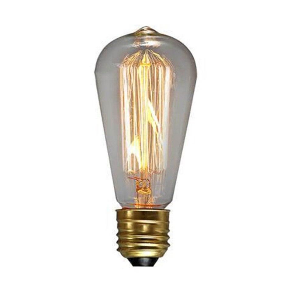 Edison Vintage 110v E26 E27 A19 A60 40w 60w Equivalent: Warm Yellow Light Bulb