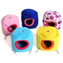 Огнеупорный гамак для домашних животных, теплое гнездо, подвесная кровать, домик для хорька зайца крыса, хомяк, белка, попугай, игрушка 10 см X 10 см