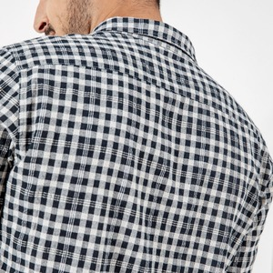 Image 5 - SIMWOOD ブランドカジュアルチェック柄シャツ男性 2020 春夏高品質男性のプラスサイズ高品質カミーサ男性 190164