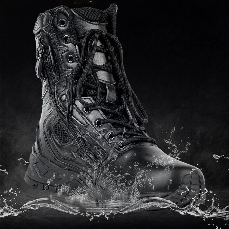 Man Tactical Boots Lightweight Climbing Tactical Military Male Boots Outdoor Sports Camping Hiking Shoes Wear-Resistant Big Size
