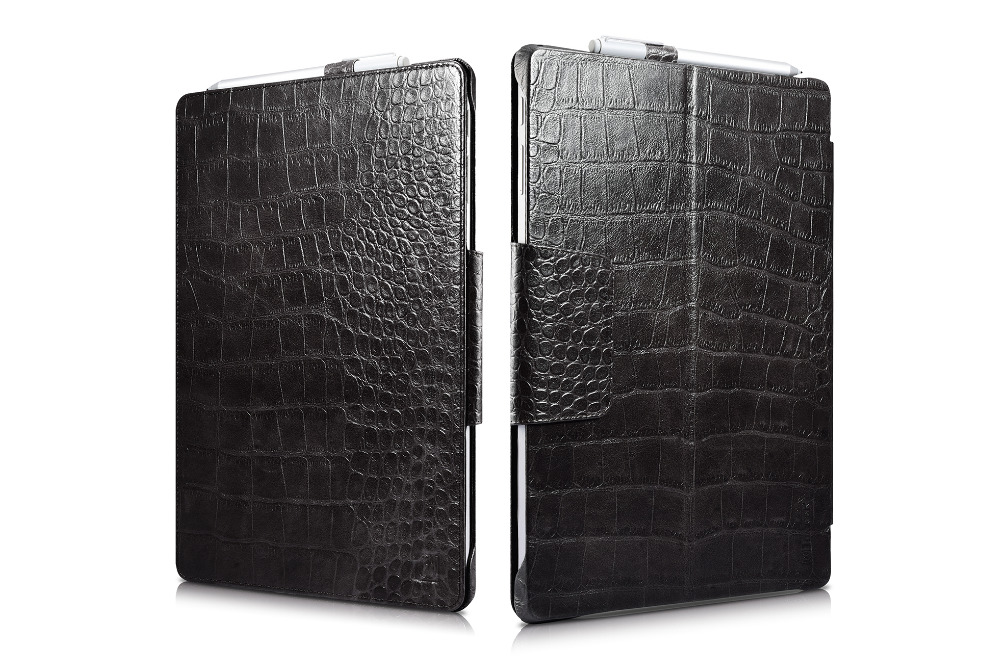 (1PC) icarer Cover For Microsoft Surface Pro 4 12 laptop briefcase Business Crocodile pattern flip Genuine Leather Folio Case mike davis knight s microsoft business intelligence 24 hour trainer
