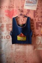 2016 autumn new design Japanese female Harajuku style vest fresh and Korean soft sister cartoon knitting vest with a house