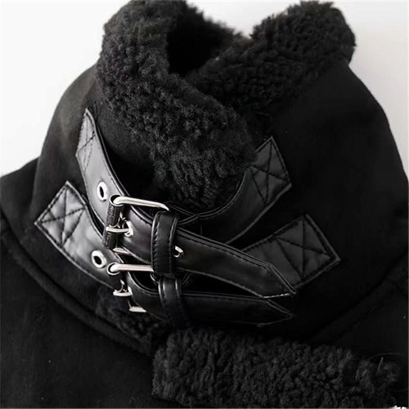 Plus Laine Cuir La Taille Hiver Manteau 2018 Black Suède En Nouveau Épais Manteaux Agneaux Agneau Vestes khaki Biker Veste Faux Femmes Chaud D'hiver Femme HRRXwz