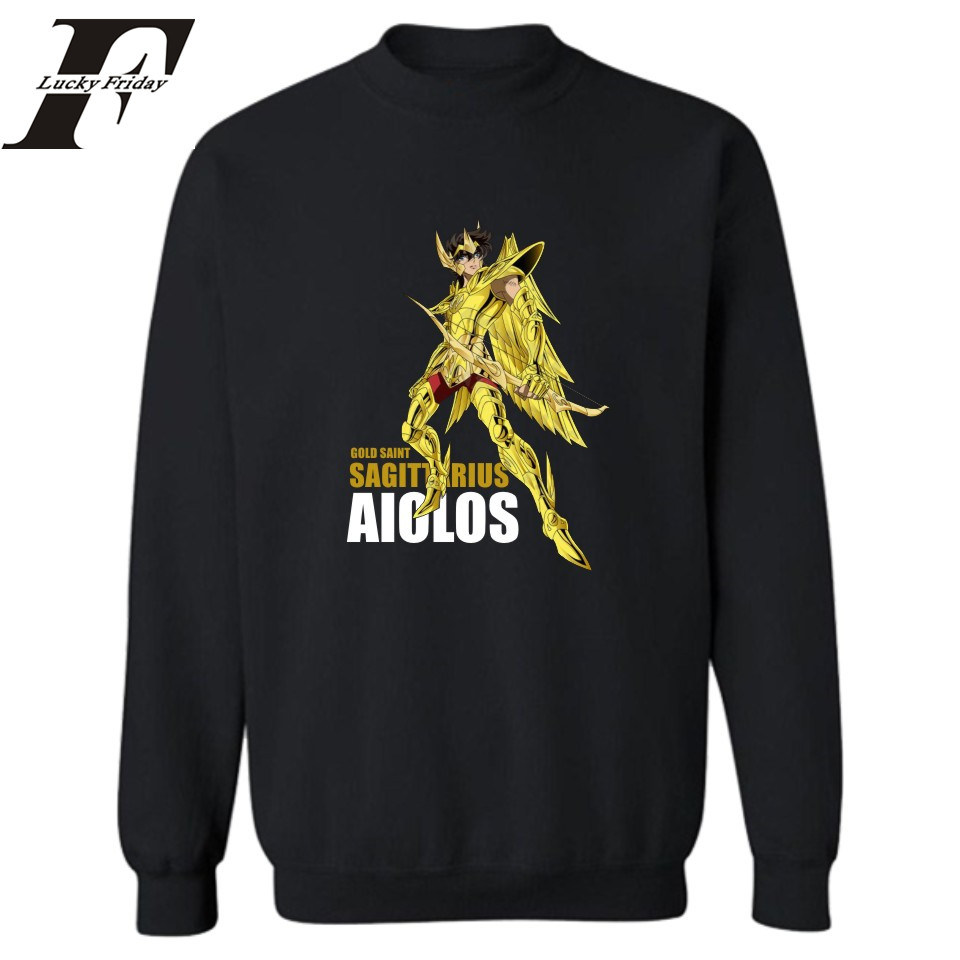 Anime Gold Saint Seiya Sweatshirts Men Sweatshirt For Men Auturm Winter Pullover Hoodies And Sweatshirt Hoodies For Men Clothing