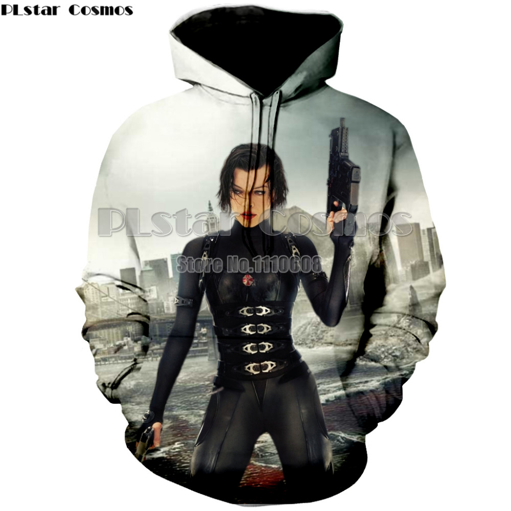 PLstar Cosmos  New hot sell thin Hoodie Resident Evil umbrella Hooded Coat Thicken Jacket hoodies Sweatshirt long sleeve
