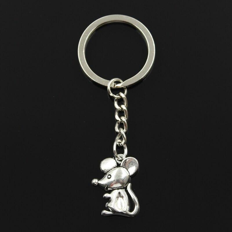 Новый модный брелок 24х18мм Подвески в виде мышонка DIY мужские ювелирные изделия автомобильный брелок держатель для ключей сувенир для подарка