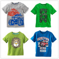 VIDMID boys t-shirt Baby Clothing Little boy Summer t shirts tees Cotton Cartoon truck stripe short sleeve children clothes