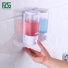 NEW Contemporary Bathroom Soap Dispensers Wall Mounted 500ml Shower Shampoo double Boxes