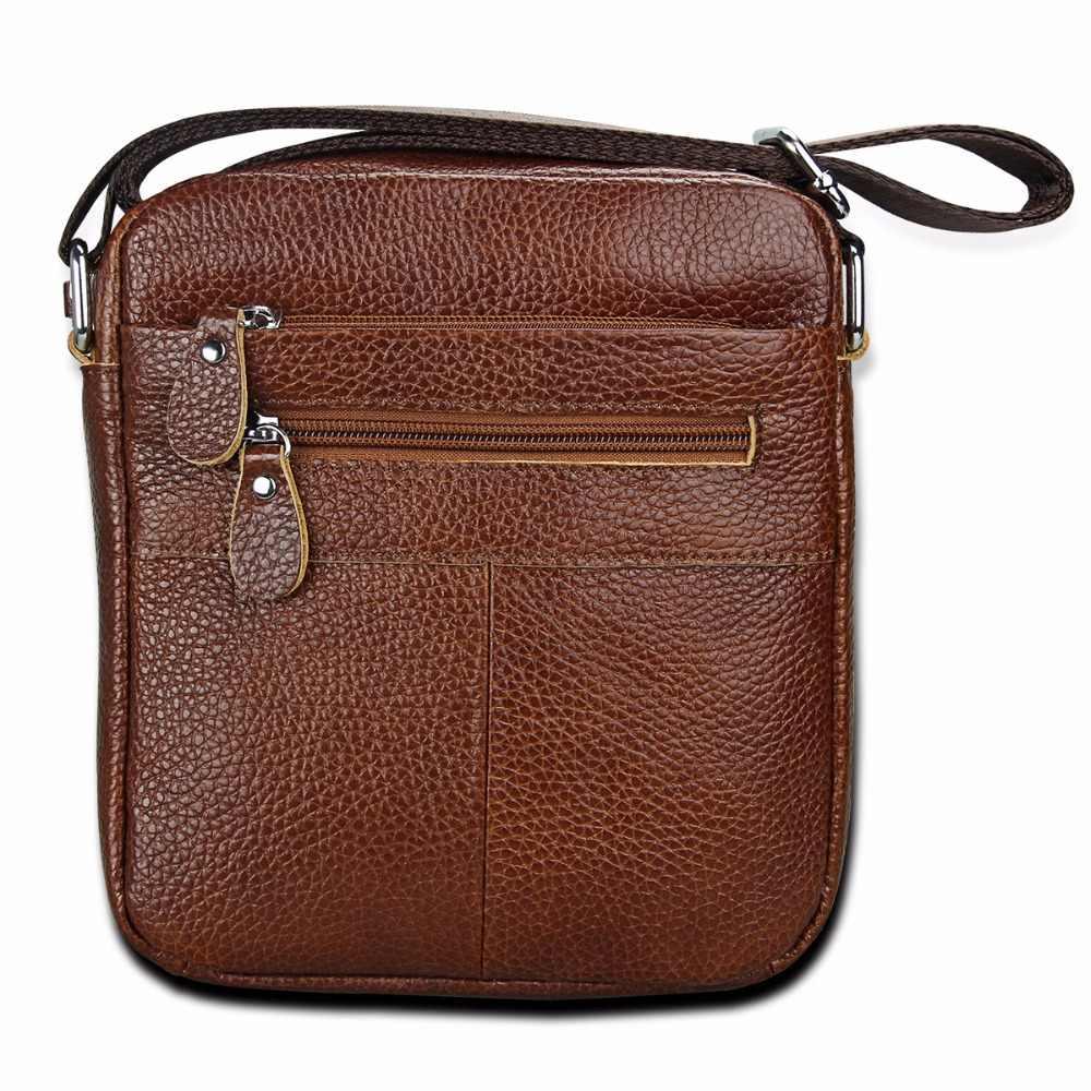 ... Men bag genuine leather crossbody messenger bags men s shoulder men bag  flap zipper vintage coffee crossbody ... 4229ad18a9898