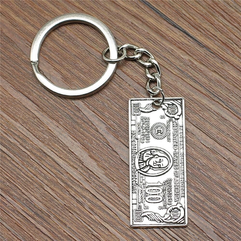 Anahtarlık para abd dolar anahtarlık 42x18mm antik gümüş yeni moda el yapımı Metal anahtarlık hatıra hediyeler kadınlar için b12400