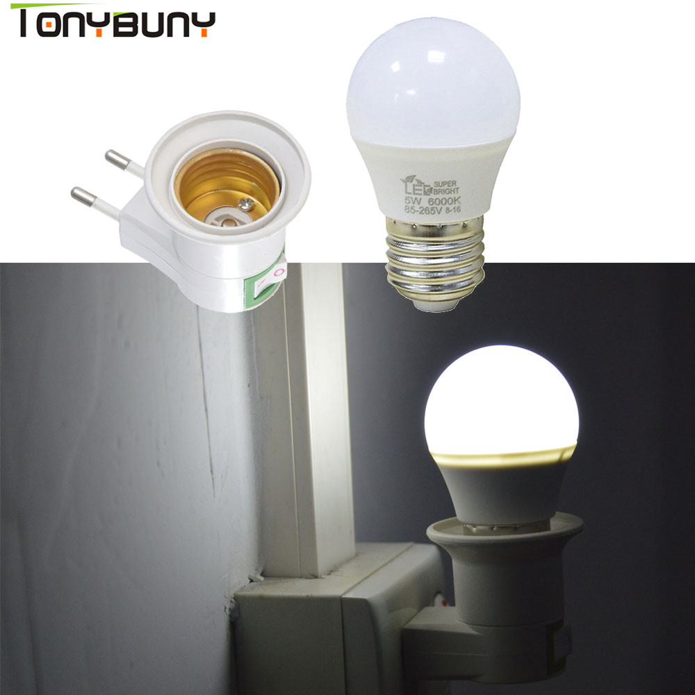 Suporte da lâmpada com Interruptor ON OFF E27 Parafuso Lâmpada Soquete Base Da Lâmpada Pingente de luz
