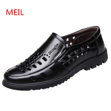 Summer Breathable Italian Men Dress Shoes Formal Genuine Leather Shoes Men Designer Perforated Mens Black Office Shoes Loafers italian designer formal men dress shoes genuine leather flat shoes for office career shoes men business leather shoes 010 169