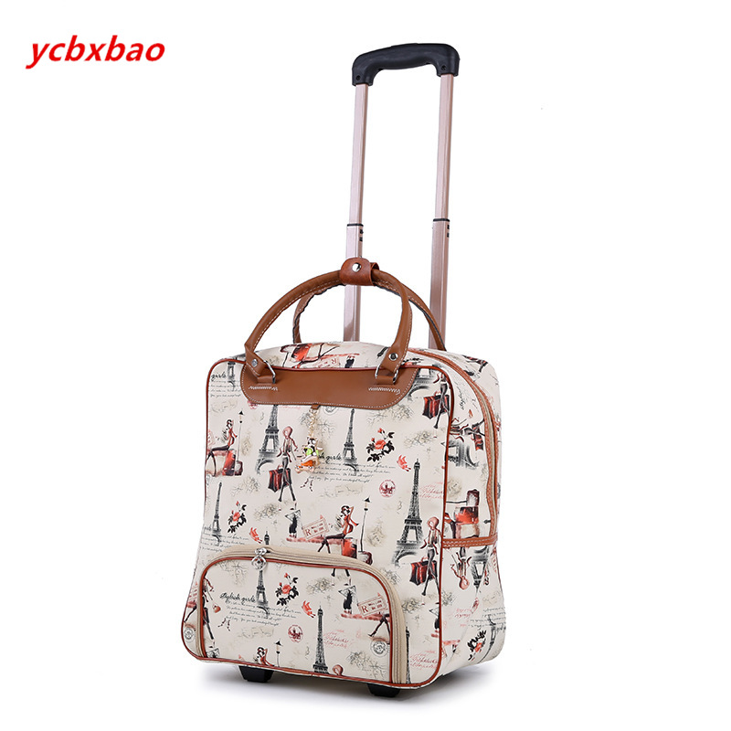 Image 4 - Women Trolley Luggage Rolling Suitcase Casual Stripes Rolling Case Travel Bag on Wheels Luggage Suitcase with Wheels-in Rolling Luggage from Luggage & Bags