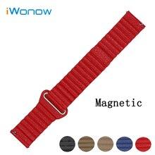 Cuero genuino correa de reloj 18mm 20mm 22mm para weekender timex expedition hebilla magnética correa de la muñeca de liberación rápida pulsera de la correa