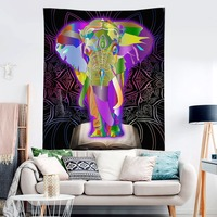 HommomH Tapestry Art Decor Wall Hanging in Dorm Living Room Bedroom Colorful Elephant Book Mandala Pattern