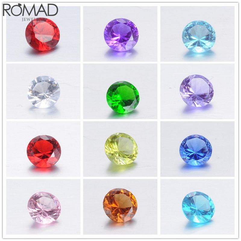 ROMAD 100pcs/set Crystal Zircon Stone Mixed Color Birthstone AAA Cubic Zirconia Beads For DIY Jewelry Making Accessory R5