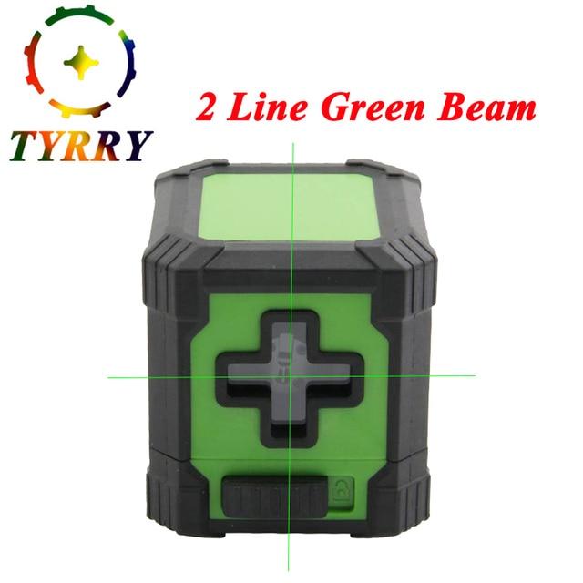 US $6 5 20% OFF|Portable Mini Cross Laser Levels Meter 2 line Horizontal  and Vertical Green Beam/Light Laser Line nivel laser level ferramentas -in