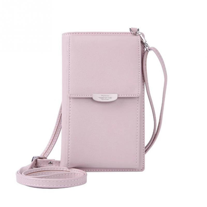 Bolsa feminina moda crossbody couro do plutônio mini messenger bags vários slots de cartão dentro do saco do telefone bolsa de ombro