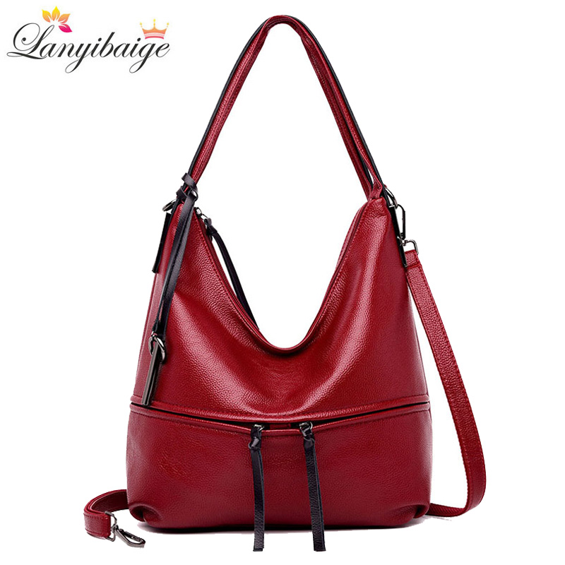 Luxurious Women Leather Handbags Designer Women Messenger Bag Lady 2018 Big Tote Shoulder Bags Brand Female Crossbody Bag Sac