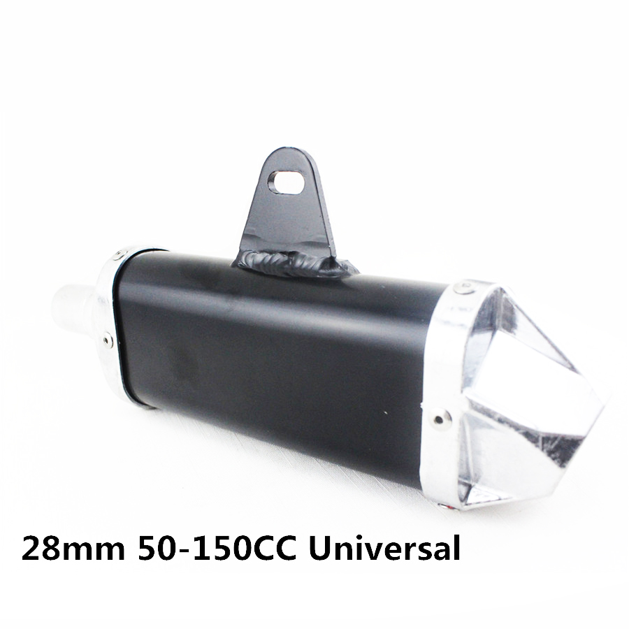 Universal Motorcycle 28mm <font><b>Exhaust</b></font> Muffler <font><b>Pipe</b></font> 50cc <font><b>110cc</b></font> 125cc 150cc image