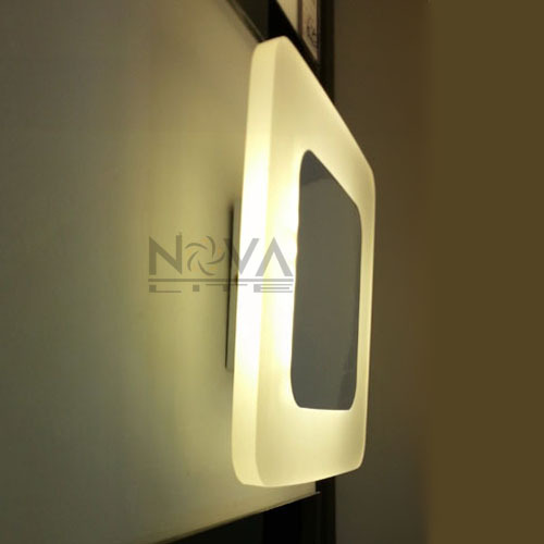 Ambience led wall lamp indoor lighting 8w square interior wall light ambience led wall lamp indoor lighting 8w square interior wall light pc glass wall sconce lighting ac230v input 2pcs per lot in led indoor wall lamps from aloadofball Gallery