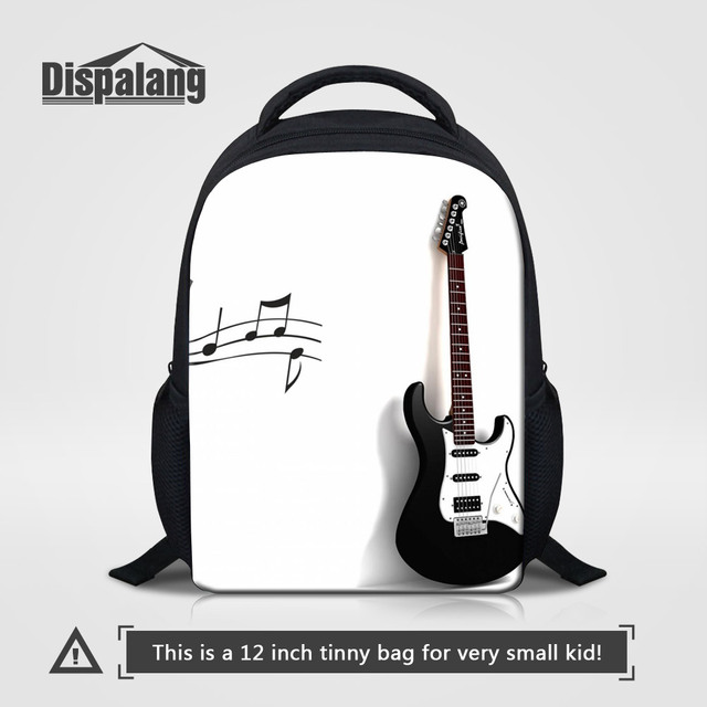 Dispalang Kaiwaii Violin Printed Kids Kindergarten School Bags Music  Backpack For Children 12 Inch Small Bookbags 559c94e5e1076